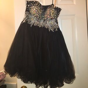 Dresses & Skirts - One Of A Kind Black Sequined Homecoming Dress